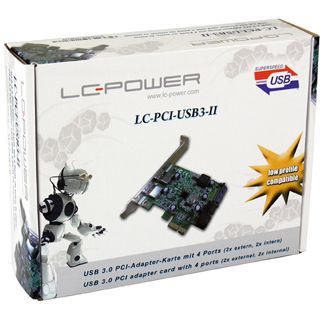 LC-Power LC-PCI-USB3-II 2 Port PCIe x1 inkl. Low Profile Slotblech