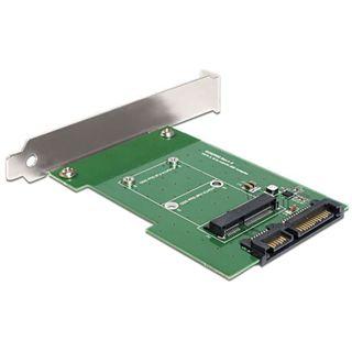 Delock SATA 22 Pin auf mSATA Konverter für mSATA SSD (62433)