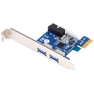 Silverstone 4x USB 3.0 (2x intern) Erweiterung für PCIe x1