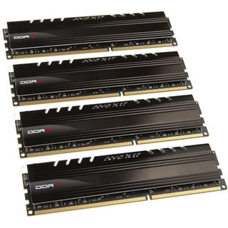 16GB Avexir Core Series weiße LED DDR3-1600 DIMM CL9 Quad Kit