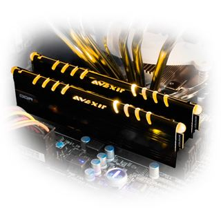 8GB Avexir Core Series gelbe LED DDR3-1600 DIMM CL9 Dual Kit