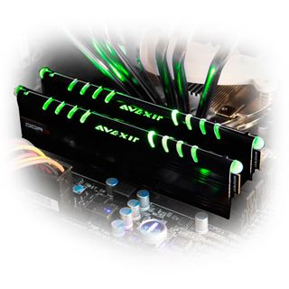8GB Avexir Core Series gruene LED DDR3-1600 DIMM CL9 Dual Kit