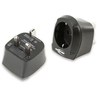 ANSMANN Stromkabel Adapter Euro 8 Stecker auf Buchse England Schwarz