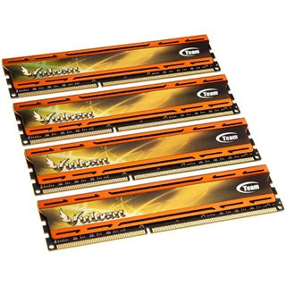 16GB TeamGroup xtreem vulcan orange DDR3-2400 DIMM CL10 Quad Kit