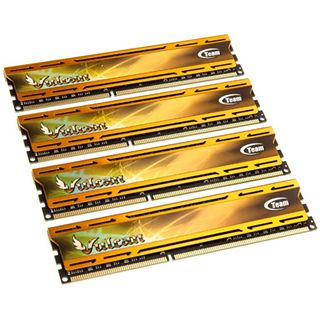 32GB TeamGroup Vulcan Series gold DDR3-1600 DIMM CL10 Quad Kit