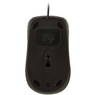 V7 Mid Size Optical Mouse USB schwarz/blau (kabelgebunden)