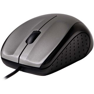 V7 Full Size Optical LED Mouse OEM USB schwarz/silber (kabelgebunden)
