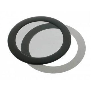 DEMCiflex 80mm rund schwarz Staubfilter für Gehäuse (80mm