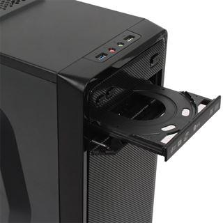 Cooltek S1 Midi Tower ohne Netzteil schwarz