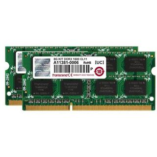 8GB Transcend JetRAM DDR3-1600 SO-DIMM CL11 Dual Kit