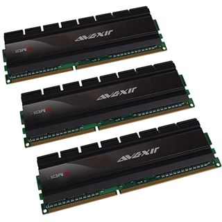 6GB Avexir Blitz Series DDR3-1600 DIMM CL9 Tri Kit