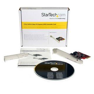 Startech PCI Express Schnittstellenkarte SATA III 2 Port PCIe 2.0 x1