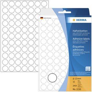 Herma 2230 rund Vielzwecketiketten 1.3x1.3 cm (32 Blatt (2464
