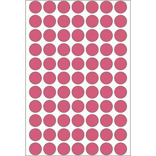 Herma 2236 leuchtrot Vielzwecketiketten 1.3x1.3 cm (24 Blatt (1848