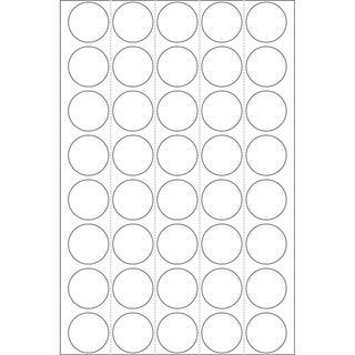 Herma 2250 rund Vielzwecketiketten 1.9x1.9 cm (32 Blatt (1280