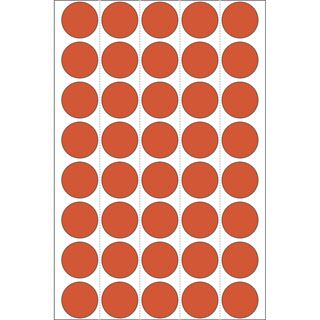 Herma 2252 rot rund Vielzwecketiketten 1.9x1.9 cm (32 Blatt (1280