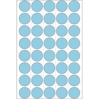 Herma 2253 blau rund Vielzwecketiketten 1.9x1.9 cm (32 Blatt (1280