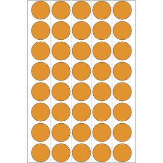 Herma 2254 leuchtorange Vielzwecketiketten 1.9x1.9 cm (24 Blatt (960