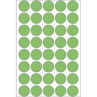 Herma 2255 gruen rund Vielzwecketiketten 1.9x1.9 cm (32 Blatt (1280