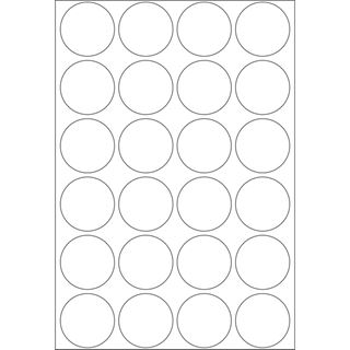 Herma 2260 rund Vielzwecketiketten 2.5x2.5 cm (32 Blatt (768
