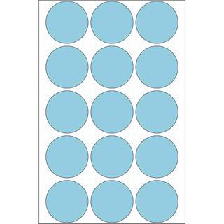Herma 2273 blau rund Vielzwecketiketten 3.2x3.2 cm (32 Blatt (480