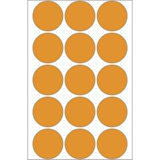 Herma 2274 leuchtorange Vielzwecketiketten 3.2x3.2 cm (24 Blatt (360
