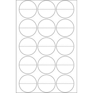 Herma 2279 perforiert Verschlussetiketten 3.2x3.2 cm (16 Blatt