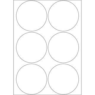 Herma 2280 rund Vielzwecketiketten 5x5 cm (32 Blatt (192 Etiketten))