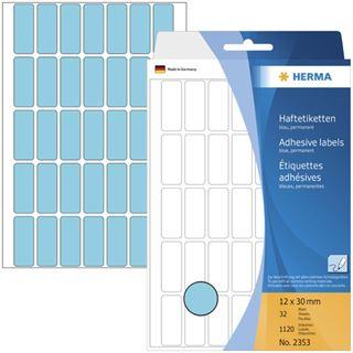 Herma 2353 blau Vielzwecketiketten 1.2x3 cm (32 Blatt (1120