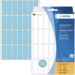 Herma 2363 blau Vielzwecketiketten 1.3x4 cm (32 Blatt (896 Etiketten))
