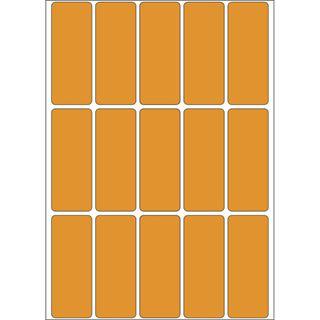 Herma 2414 leuchtorange Vielzwecketiketten 2x5 cm (24 Blatt (360