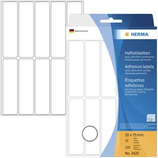 Herma 2420 Vielzwecketiketten 2x7.5 cm (32 Blatt (320 Etiketten))