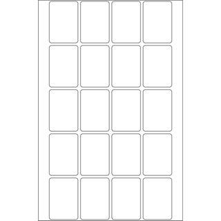 Herma 2430 Vielzwecketiketten 2.2x3.2 cm (32 Blatt (640 Etiketten))