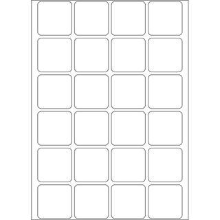 Herma 2460 Vielzwecketiketten 2.4x2.4 cm (32 Blatt (768 Etiketten))