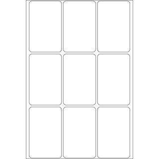 Herma 2470 Vielzwecketiketten 3.4x5.3 cm (32 Blatt (288 Etiketten))