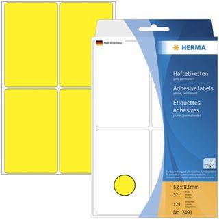Herma 2491 gelb Vielzwecketiketten 5.2x8.2 cm (32 Blatt (128