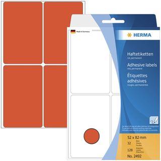 Herma 2492 rot Vielzwecketiketten 5.2x8.2 cm (32 Blatt (128