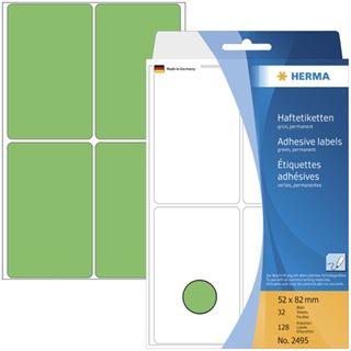 Herma 2495 gruen Vielzwecketiketten 5.2x8.2 cm (32 Blatt (128