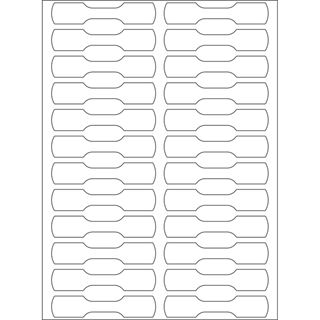 Herma 2510 Halbkarton Ringetiketten 1x4.9 cm (25 Blatt (600