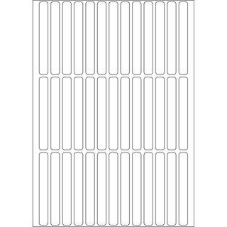 Herma 2530 Vielzwecketiketten 0.6x5 cm (32 Blatt (1248 Etiketten))