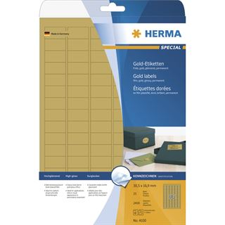 Herma 2400 gold Universal-Etiketten 3.05x1.69 cm (25 Blatt (2400