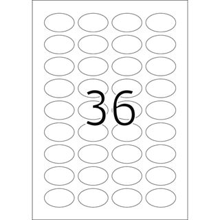 Herma 4109 gold oval Folie Universal-Etiketten 4.6x2.54 cm (25 Blatt