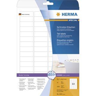Herma 4201 ablösbar Sichtreiteretiketten 4,85x1,69 cm (25 Blatt