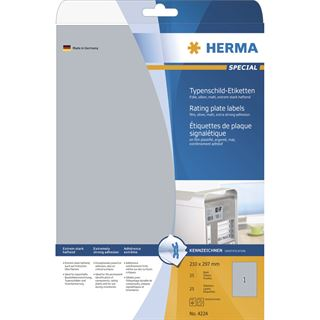 Herma 4224 silber extrem stark haftend Typenschild-Etiketten