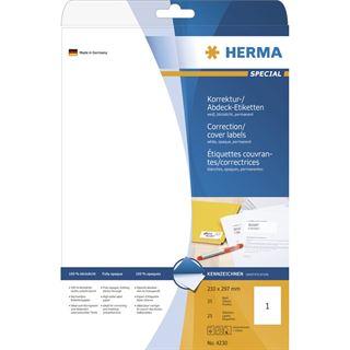 Herma 4230 Korrektur-Etiketten 21.0x29.7 cm (25 Blatt (25 Etiketten))