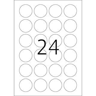 Herma 4234 rund stark haftend Sicherheitsetiketten 4x4 cm (25 Blatt