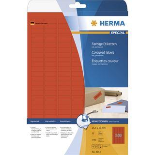Herma 4244 rot Universal-Etiketten 2.54x1 cm (20 Blatt (3780