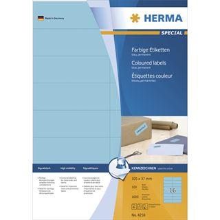 Herma 10833 Recycling Universal-Etiketten 21.0x29.7 cm (100 Blatt