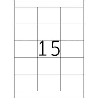 Herma 4278 Premium Universal-Etiketten 7x5.08 cm (100 Blatt (1500
