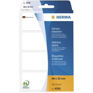 Herma 4300 endlos Adressetiketten für Schreibmaschinen 8.8x3.5